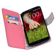 LG G2 - Wallet Bookstyle Case Y Roze