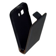 Samsung Galaxy Young 2 - Flip Case Cover Hoesje Leder Zwart