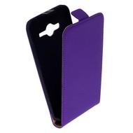 Samsung Galaxy Core 2 - Flip Case Cover Hoesje Leder Paars