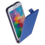 Samsung Galaxy S5 Mini - Flip Case Cover Hoesje Leder Blauw