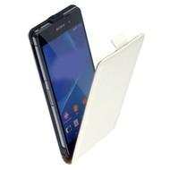 Sony Xperia Z3 Compact / Mini D5803 - Lederlook Flip case klap hoesje cover - Wit