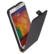 Samsung Galaxy Note 4 - Flip Case Cover Hoesje Lederlook Zwart