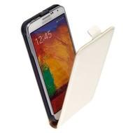 Samsung Galaxy Note 4 - Flip Case Cover Hoesje Lederlook Wit
