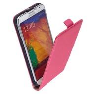 Samsung Galaxy Note 4 - Flip Case Cover Hoesje Lederlook Roze