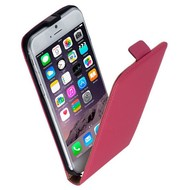 Apple Iphone 6 - Flip Case Cover Hoesje Lederlook Roze