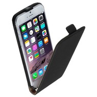 Apple Iphone 6 Plus - Flip Case Cover Hoesje Lederlook Zwart