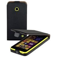 Nokia Lumia 830 - Flipcase Cover Hoesje Lederlook Zwart