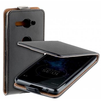 Eco Flipcase Cover Zwart Hoesje voor Sony Xperia XZ2 Compact