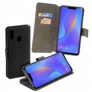 Luxe Bookstyle Y Wallet Case Zwart Hoesje voor Huawei P Smart Plus