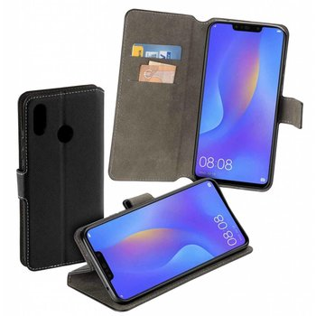 ZLuxe Bookstyle Y Wallet Case Zwart Hoesje voor Huawei P Smart Plus