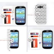 Samsung Galaxy S3 Neo - Wallet Bookstyle Case Hoesje Polkadot Wit