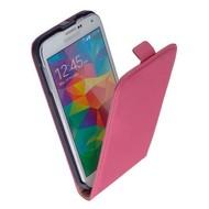 Samsung Galaxy S5 Neo - Flip Case Cover Hoesje Pearlycase Lederlook Roze