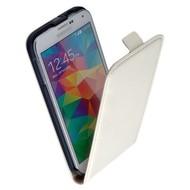 Samsung Galaxy S5 Neo - Flip Case Cover Hoesje Pearlycase Lederlook Wit