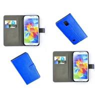 Samsung Galaxy S5 Neo - Wallet Bookstyle Case Lederlook Blauw