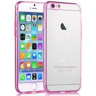 Apple Iphone 6S - Tpu Siliconen Case Hoesje Roze Transparant