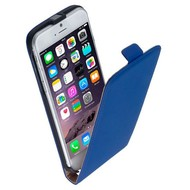 Apple Iphone 6S - Flip Case Cover Hoesje Leder Blauw