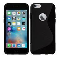 Apple Iphone 6S Plus - Tpu Siliconen Case Hoesje S-Style Zwart