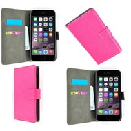Apple Iphone 6S Plus - Wallet Bookstyle Case Lederlook Roze