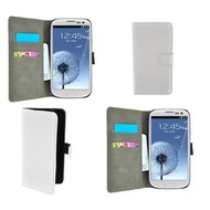 Samsung Galaxy S3 Neo - Wallet Bookstyle Case Hoesje Wit