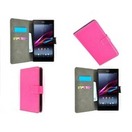 Sony Xperia Z5 Compact - Wallet Bookstyle Case Lederlook Roze