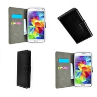 Samsung Galaxy Core Prime - Wallet Bookstyle Case Lederlook Zwart