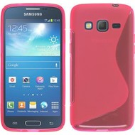 Samsung Galaxy Core Prime - Tpu Siliconen Case Hoesje S-Style Roze