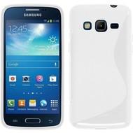 Samsung Galaxy Core Prime - Tpu Siliconen Case Hoesje S-Style Wit