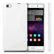 Huawei P8 Lite -Tpu Siliconen Case Hoesje S-Style Wit