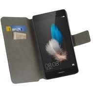 Huawei P8 Lite - Bookstyle Case Y Zwart