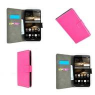 Huawei P8 - Wallet Bookstyle Case Lederlook Roze