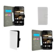 Huawei P8 - Wallet Bookstyle Case Lederlook Wit