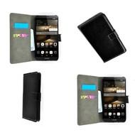 Huawei P8 - Wallet Bookstyle Case Lederlook Zwart