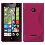 Microsoft Lumia 435 - Tpu Siliconen Case Hoesje S-Style Roze