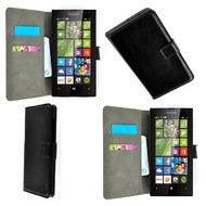 Microsoft Lumia 435 - Wallet Bookstyle Case Lederlook Zwart