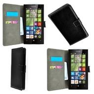 Microsoft Lumia 532 - Wallet Bookstyle Case Lederlook Zwart