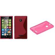 Microsoft Lumia 532 - Tpu Siliconen Case Hoesje S-Style Roze