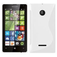 Microsoft Lumia 532 - Tpu Siliconen Case Hoesje S-Style Wit