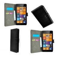 Microsoft Lumia 640 XL - Wallet Bookstyle Case Lederlook Zwart