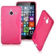 Microsoft Lumia 640 XL -Tpu Siliconen Case Hoesje S-Style Roze