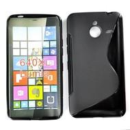 Microsoft Lumia 640 XL -Tpu Siliconen Case Hoesje S-Style Zwart