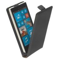 Microsoft Lumia 640 XL - Flip Case Cover Hoesje Leder Zwart