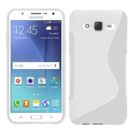 Samsung Galaxy J5 - Tpu Siliconen Case Hoesje S-Style Wit