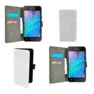 Samsung Galaxy J7 - Wallet Bookstyle Case Lederlook Wit