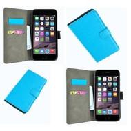 Apple Iphone 6 Plus - Wallet Bookstyle Case Lederlook Turquoise