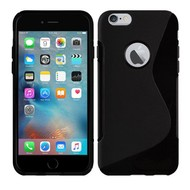 Apple Iphone 6 - Tpu Siliconen Case Hoesje S-Style Zwart
