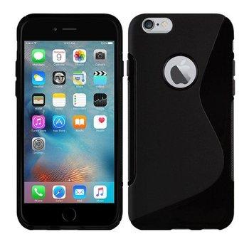 Apple Iphone 6 - Tpu Siliconen Case Hoesje S-Style Zwart