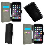 Apple Iphone 6 Plus - Wallet Bookstyle Case Lederlook Zwart