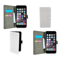 Apple Iphone 6 Plus - Wallet Bookstyle Case Lederlook Wit