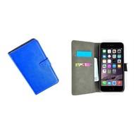 Apple Iphone 6 Plus - Wallet Bookstyle Case Lederlook Blauw