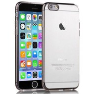 Apple Iphone 6 Plus - Tpu Siliconen Case Hoesje Smoke Transparant